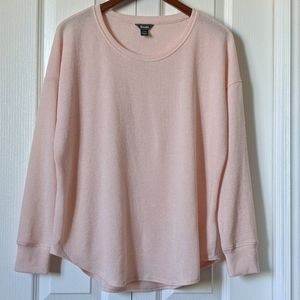 Roots Pretty Soft Pink Long Sleeve Rounded Pullove